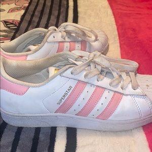 Pink Adidas Superstars